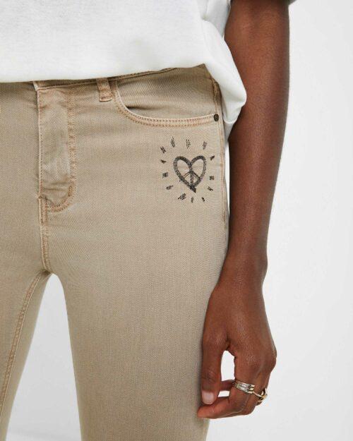 Jeans skinny Desigual Denim Alba Marrone - Foto 4