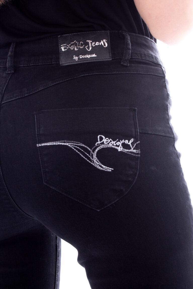 Jeans slim Desigual DENIM BASIC 2ND SKIN Nero - Foto 4