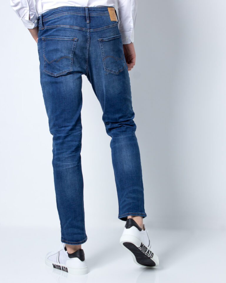 Jeans slim Jack Jones TIM ORIGINAL Blue Denim Scuro - Foto 3
