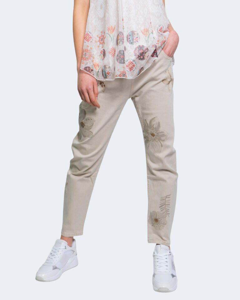 Jeans larghi Desigual KIM Beige - Foto 1