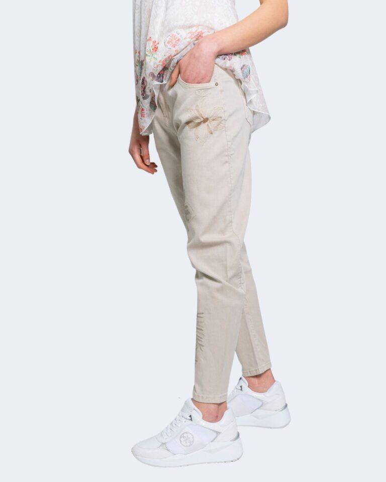Jeans larghi Desigual KIM Beige - Foto 2