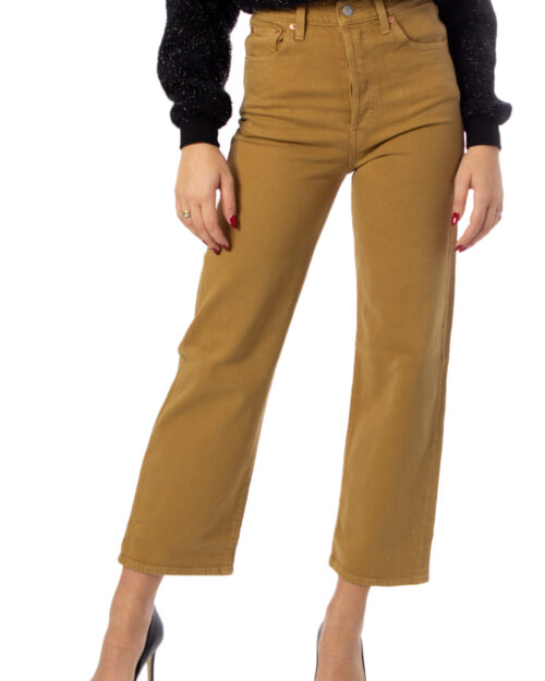 Jeans mom Levi's® RIBCAGE STRAIGHT ANKLE Beige – 39056