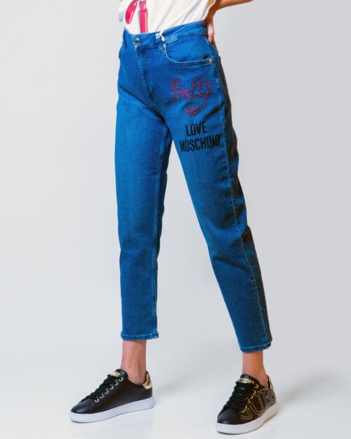 Jeans mom Love Moschino 5PKT RICAMO PRETTY IN LOVE Denim – 52871