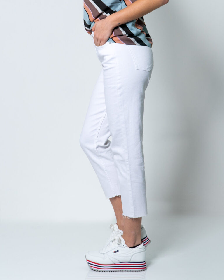 Jeans mom Only EMILY LIFE HW ST RAW CRPANK COL NOOS Bianco - Foto 2
