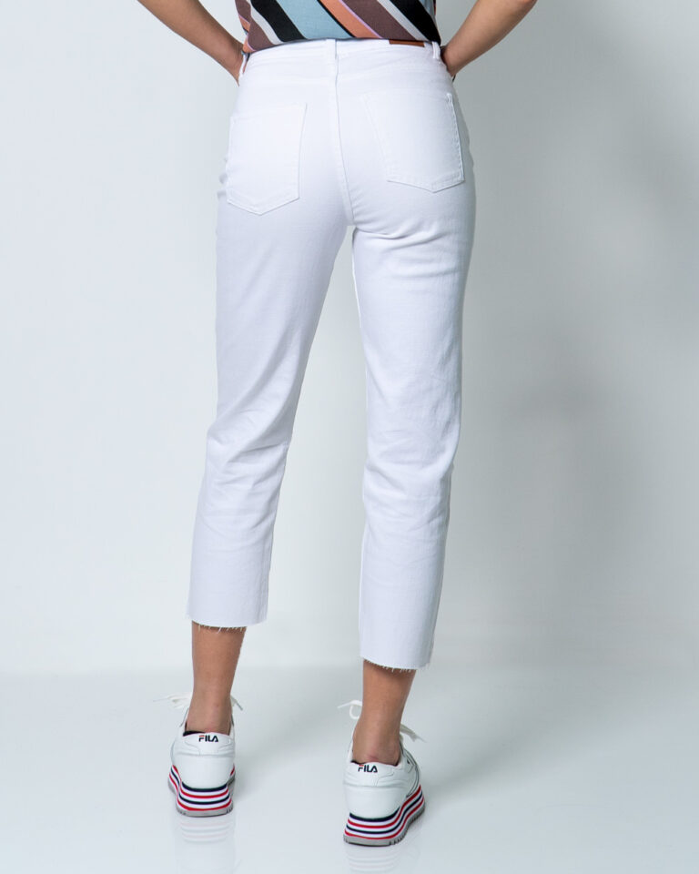 Jeans mom Only EMILY LIFE HW ST RAW CRPANK COL NOOS Bianco - Foto 3