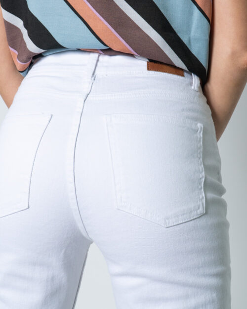 Jeans mom Only EMILY LIFE HW ST RAW CRPANK COL NOOS Bianco - Foto 4