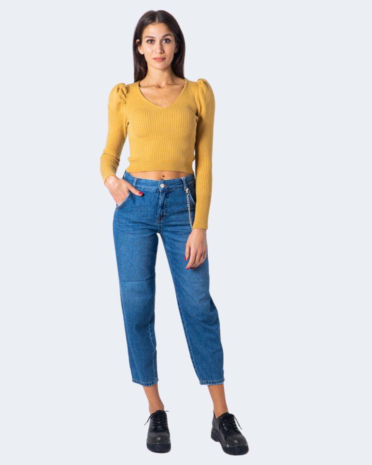 Jeans mom Only TROY LIFE HW MB CARROT Blue Denim - Foto 2