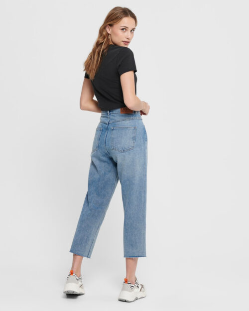 Jeans larghi Only PAM MID STRAIGHT CROP Denim chiaro – 45429