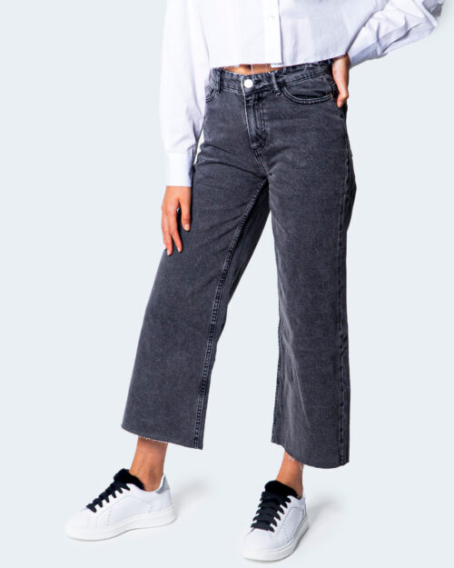 Jeans larghi Only SONNY LIFE CROPPED Grigio Scuro - Foto 2