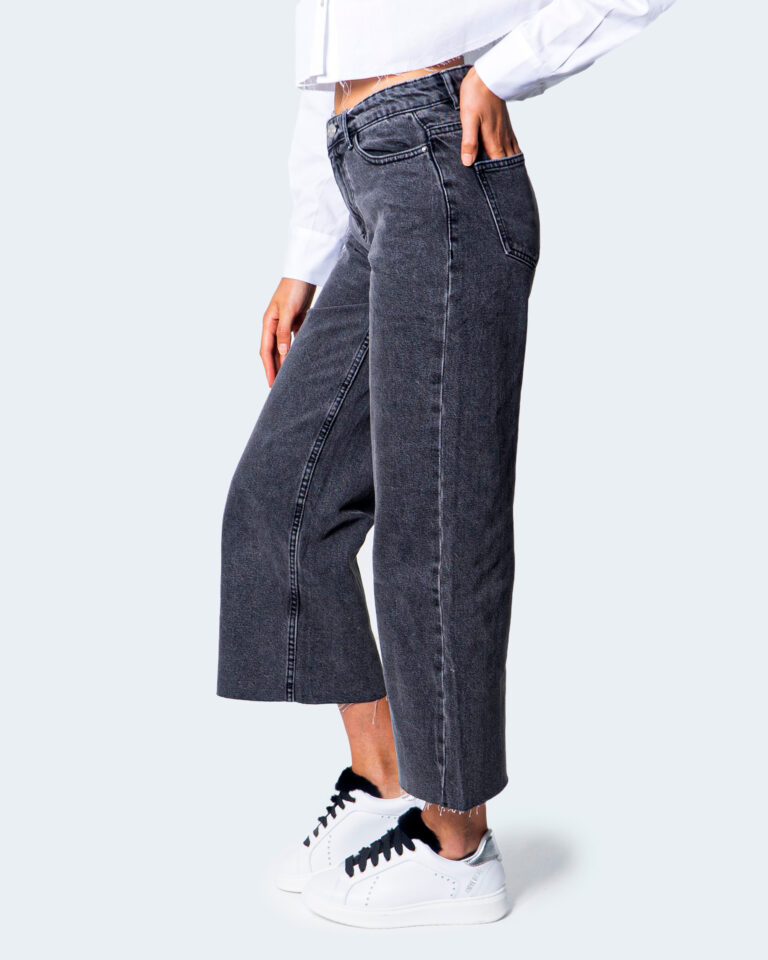 Jeans larghi Only SONNY LIFE CROPPED Grigio Scuro - Foto 3