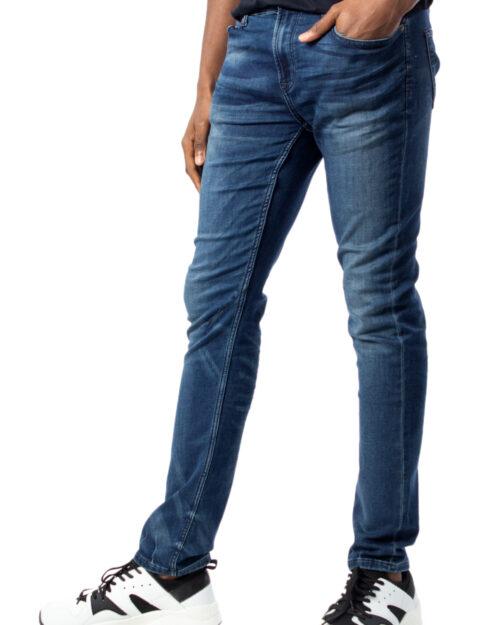 Jeans skinny Only & Sons LOOM SLIM ZIP BLUE SWEAT PK 5265 Denim scuro – 39648