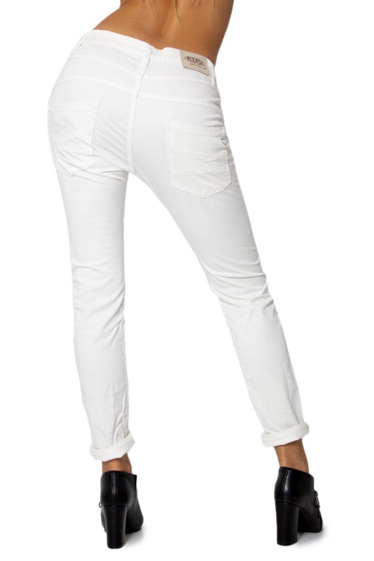 Pantaloni Please P78ADR7M07 BASIC Bianco - Foto 2