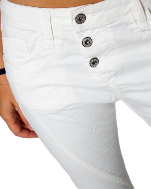 Pantaloni Please P78ADR7M07 BASIC Bianco - Foto 3
