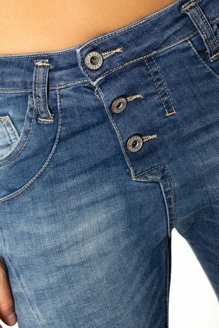 Jeans baggy Please P78 BOYFRIEND BAGGY BASSO Denim - Foto 3