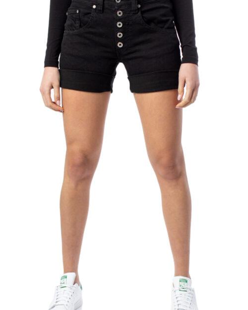 Shorts Please CORTO TESSUTO JEANS Nero – 40497