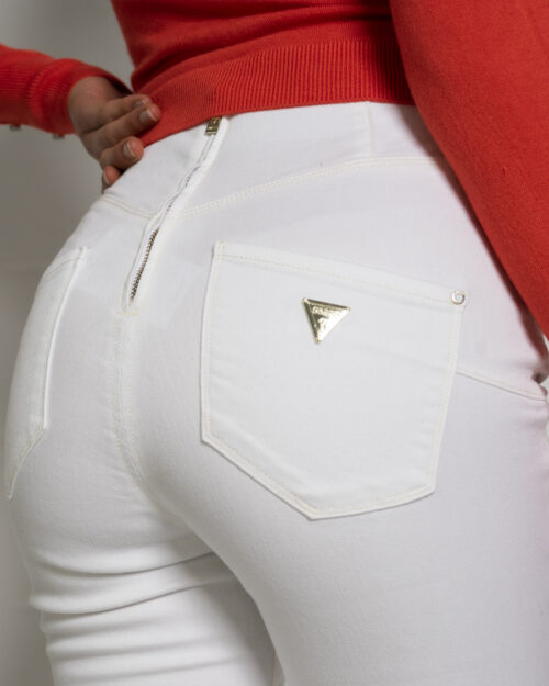 Jeans skinny Guess ultra curve high button Bianco - Foto 4