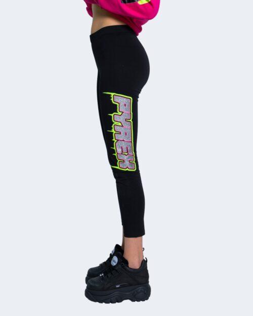 Leggings Pyrex STAMPA LOGO FLUO E GLITTER Nero – 62902