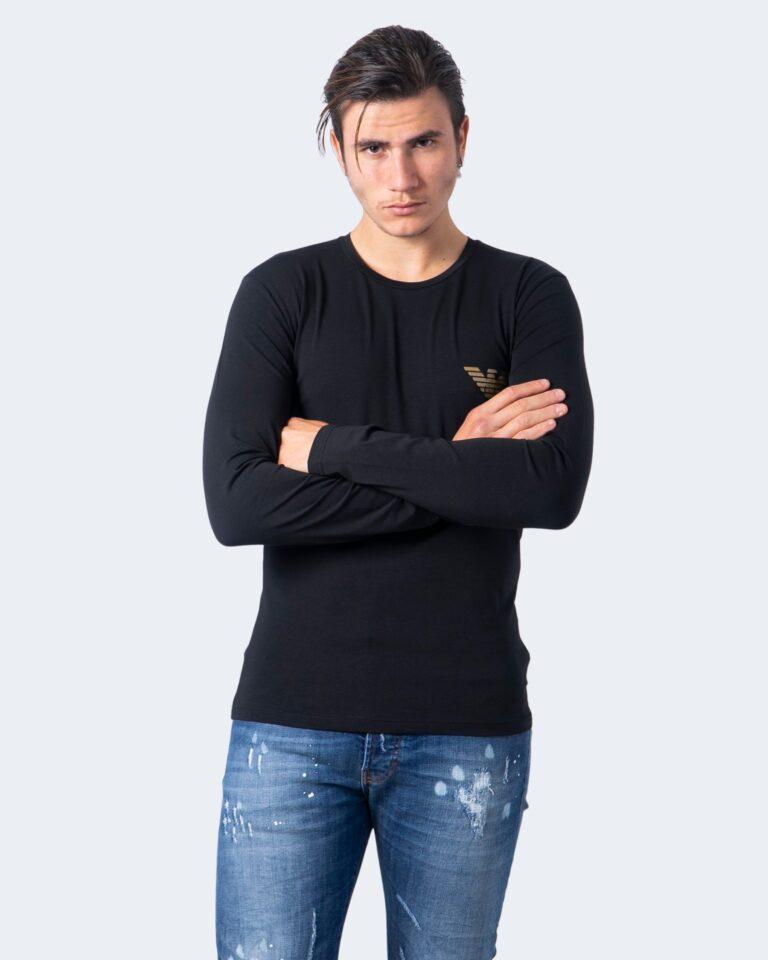 T-shirt intimo Emporio Armani LOGO GOLD Nero - Foto 1