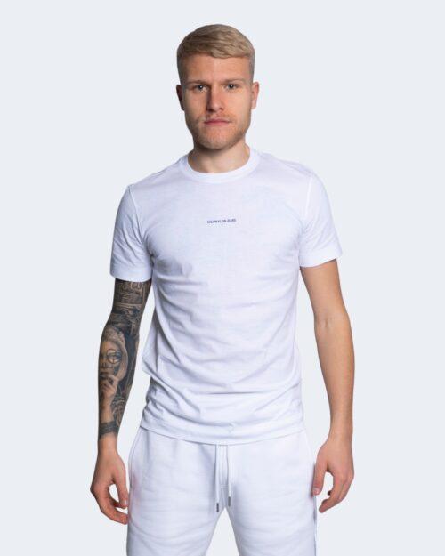 T-shirt Calvin Klein Jeans MICRO BRANDING Bianco - Foto 1