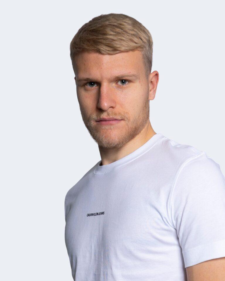 T-shirt Calvin Klein Jeans MICRO BRANDING Bianco - Foto 4