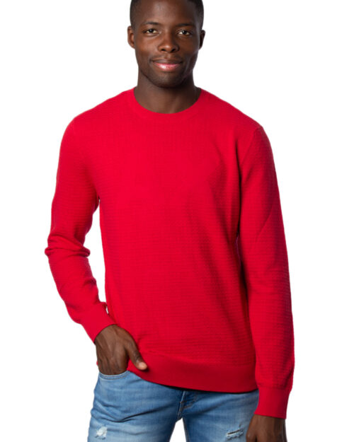 Maglione Armani Exchange Knitted Pullover Rosso – 30999
