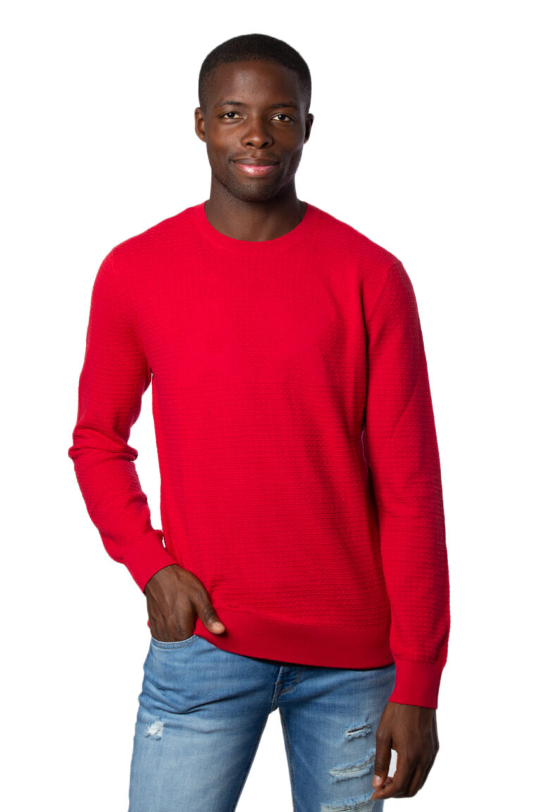 Maglione Armani Exchange Knitted Pullover Rosso - Foto 1