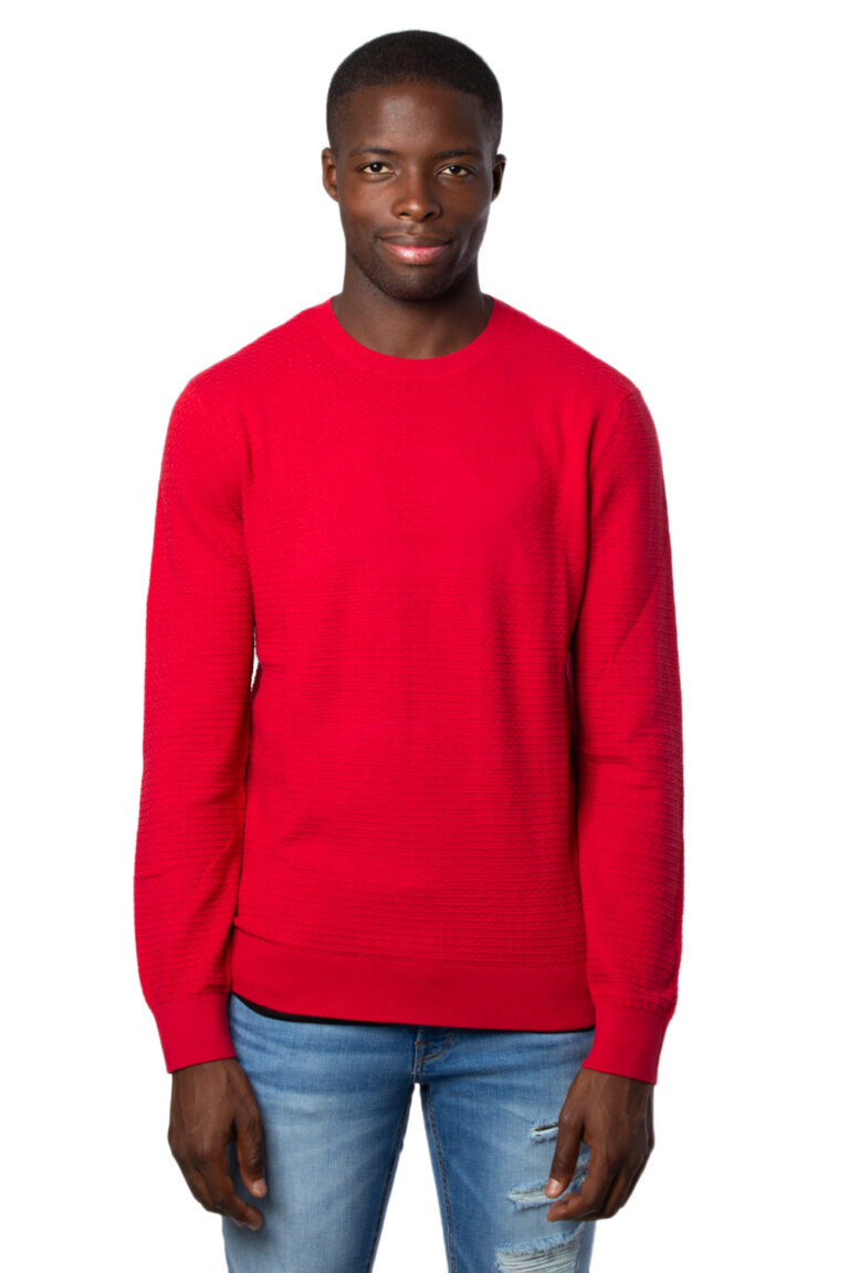 Maglione Armani Exchange Knitted Pullover Rosso - Foto 2