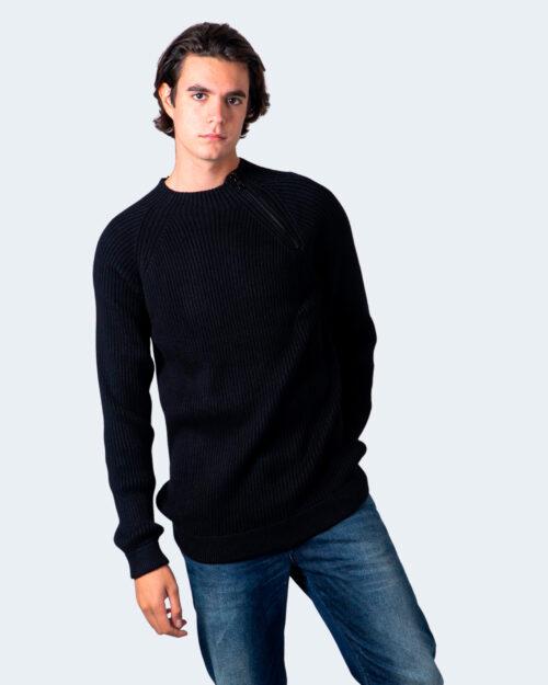 Maglione Calvin Klein MIXED MEDIA MOCK NECK SWEATER Nero – 54833