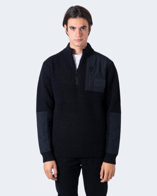 Maglione Calvin Klein UTILITY HALF ZIP SWEATER Nero – 59622