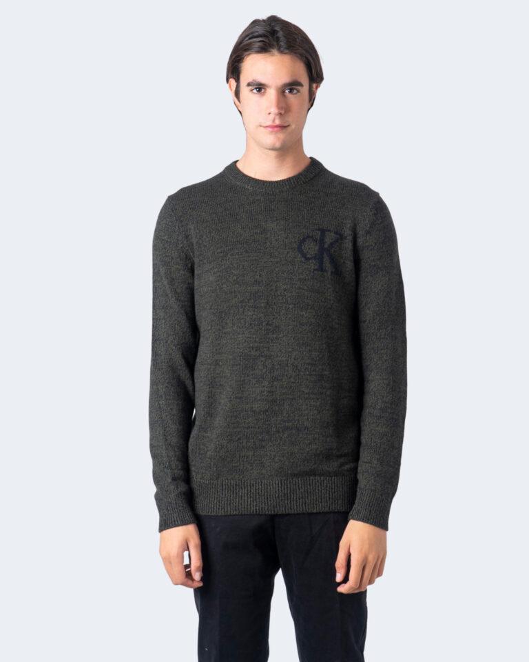 Maglione Calvin Klein Jeans TWISTED YARN CK LOGO Verde - Foto 1