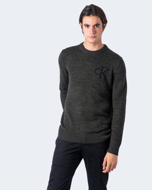 Maglione Calvin Klein TWISTED YARN CK LOGO Verde – 59524