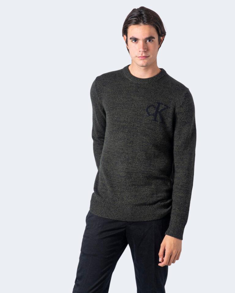 Maglione Calvin Klein Jeans TWISTED YARN CK LOGO Verde - Foto 2
