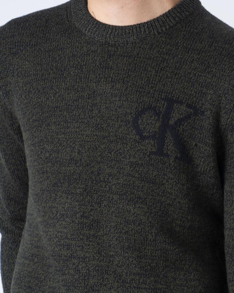 Maglione Calvin Klein Jeans TWISTED YARN CK LOGO Verde - Foto 3