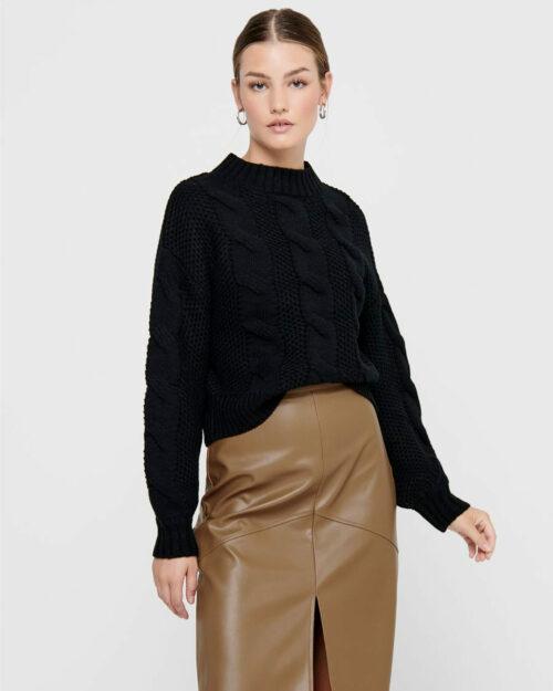 Maglione Jacqueline de Yong JULIA Nero - Foto 1