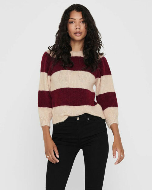 Maglione Only BENIN 3/4 PULLOVER Bordeaux – 55038