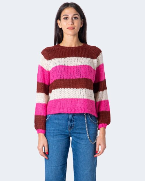 Maglione Only CARLY L/S PULLOVER CC KNT Fuxia – 59617