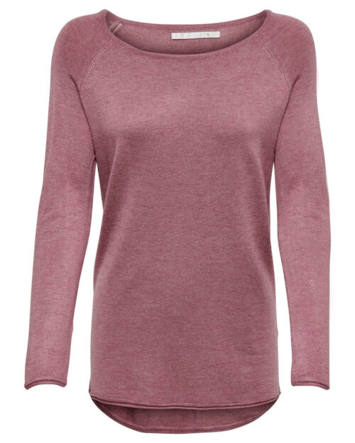 Maglione Only MILA LACY L/S LONG PULLOVER KNT NOOS Rosa – 27359