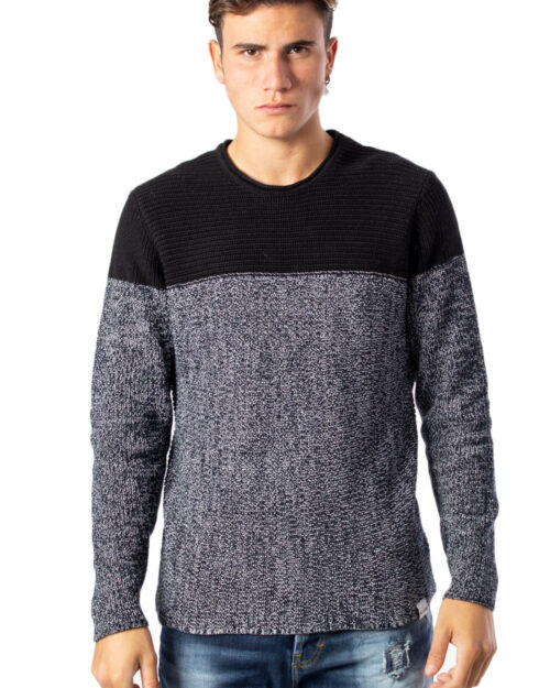 Maglione Only & Sons Sato 7 Colorblock Crew Neck Knit Noos Blu – 38342