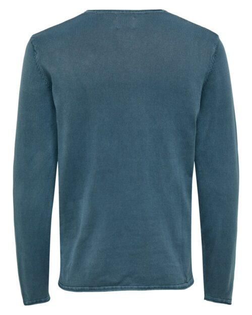 Maglione Only & Sons GARSON WASH CREW NECK Blue scuro – 14406