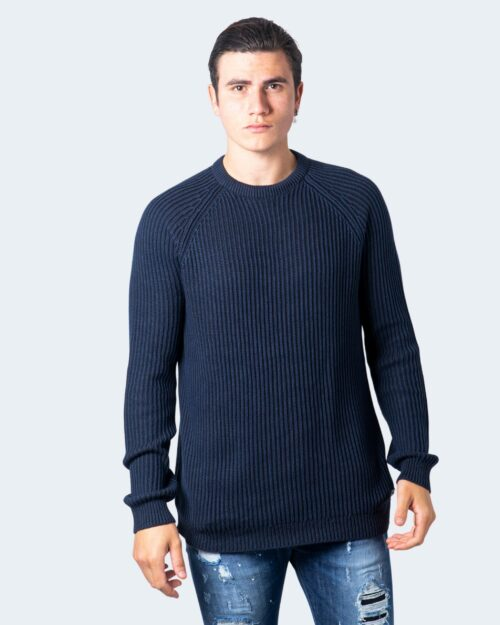 Maglione Only & Sons RATO LIFE 5 STRUC RAGLAN KNIT NOOS Blue scuro – 59403
