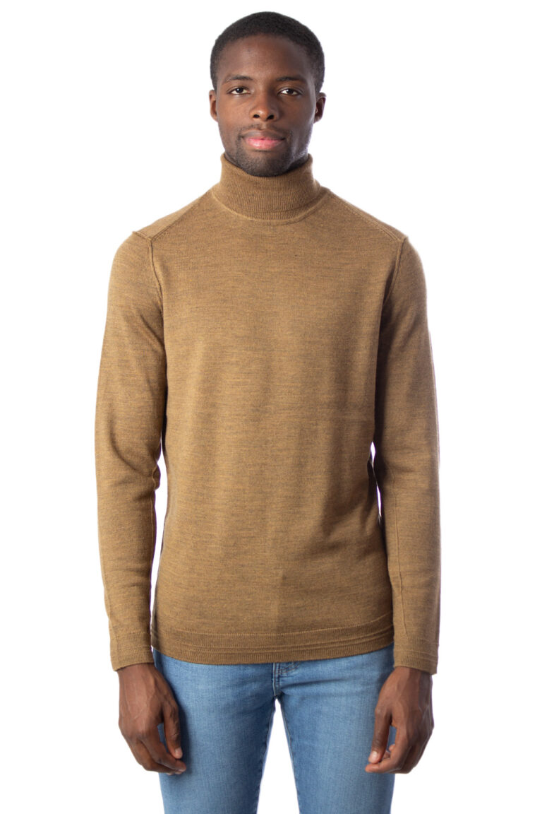Dolcevita Only & Sons TYLER 12 M ROLL NECK KNIT NOOS Marrone - Foto 1