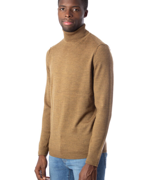 Dolcevita Only & Sons TYLER 12 M ROLL NECK KNIT NOOS Marrone - Foto 2