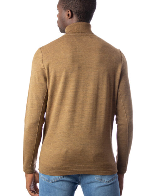 Dolcevita Only & Sons TYLER 12 M ROLL NECK KNIT NOOS Marrone - Foto 3