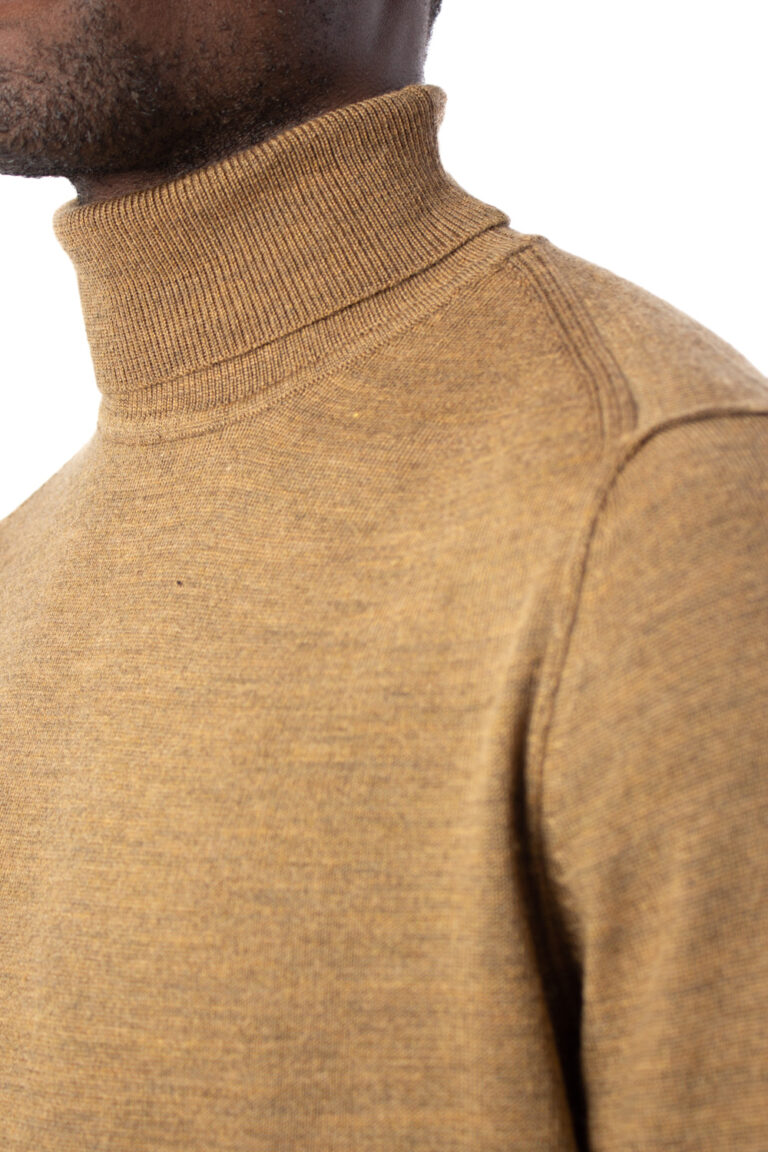 Dolcevita Only & Sons TYLER 12 M ROLL NECK KNIT NOOS Marrone - Foto 4