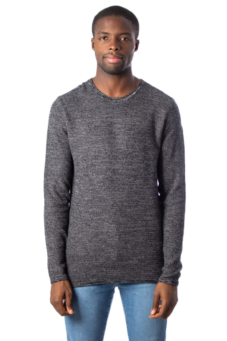 Maglione Only & Sons WICTOR 12 STRUCTURE CREW NECK Nero - Foto 1