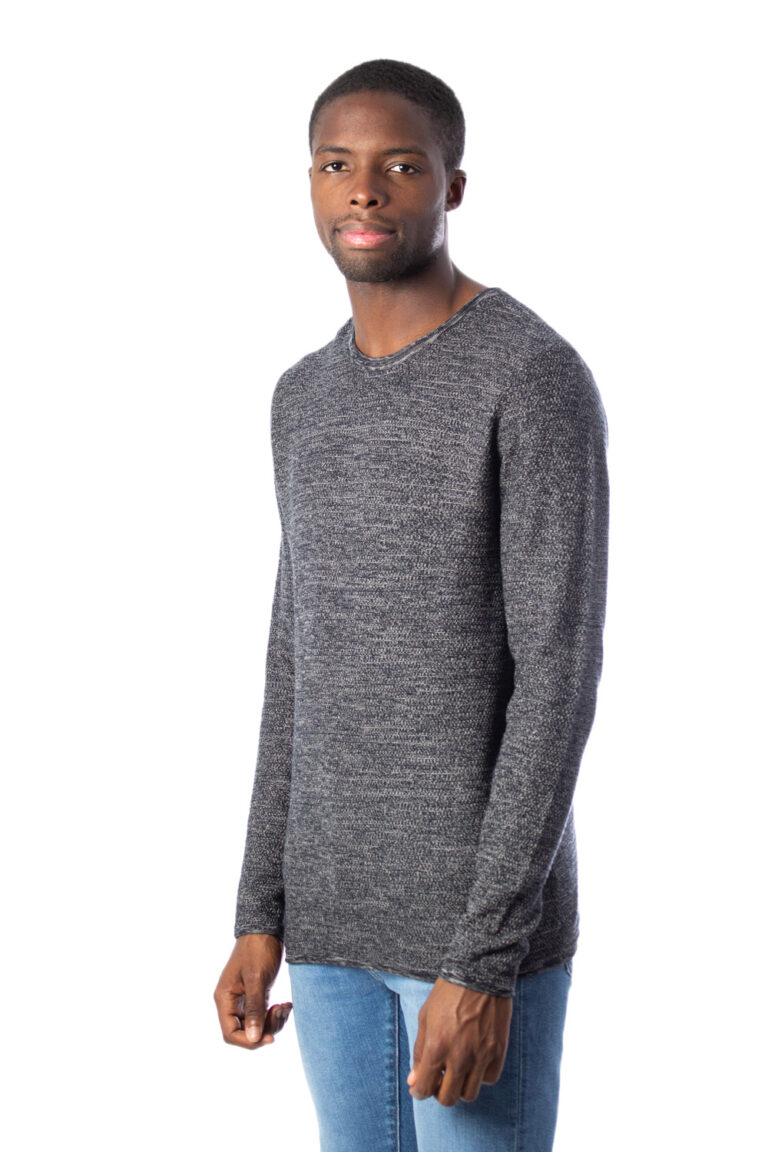 Maglione Only & Sons WICTOR 12 STRUCTURE CREW NECK Nero - Foto 2