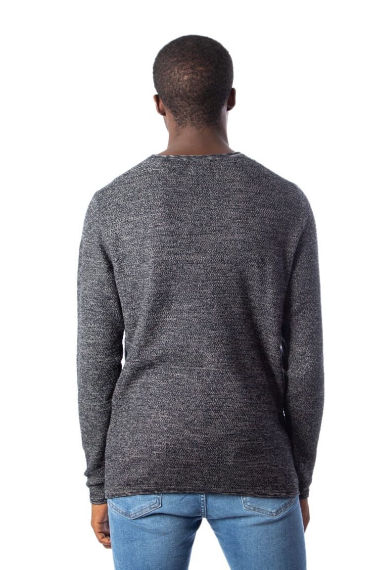 Maglione Only & Sons WICTOR 12 STRUCTURE CREW NECK Nero - Foto 3