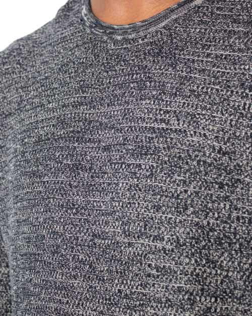 Maglione Only & Sons WICTOR 12 STRUCTURE CREW NECK Nero - Foto 4