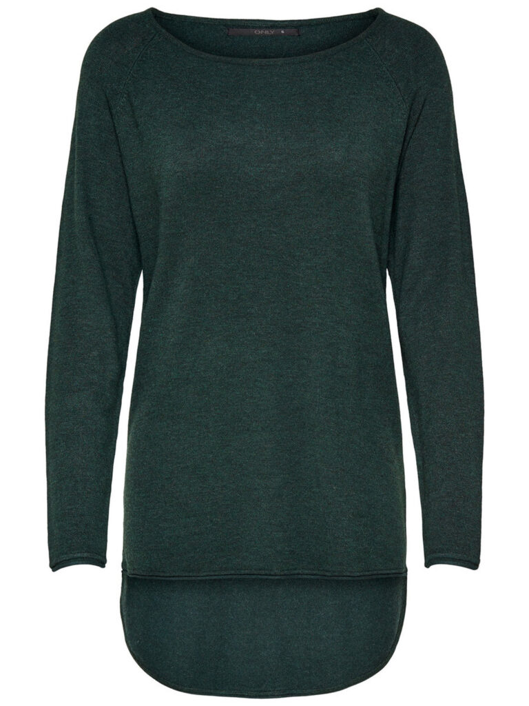 Maglione Only MILA LACY LONG PULLOVER KNT NOOS Verde Scuro - Foto 1