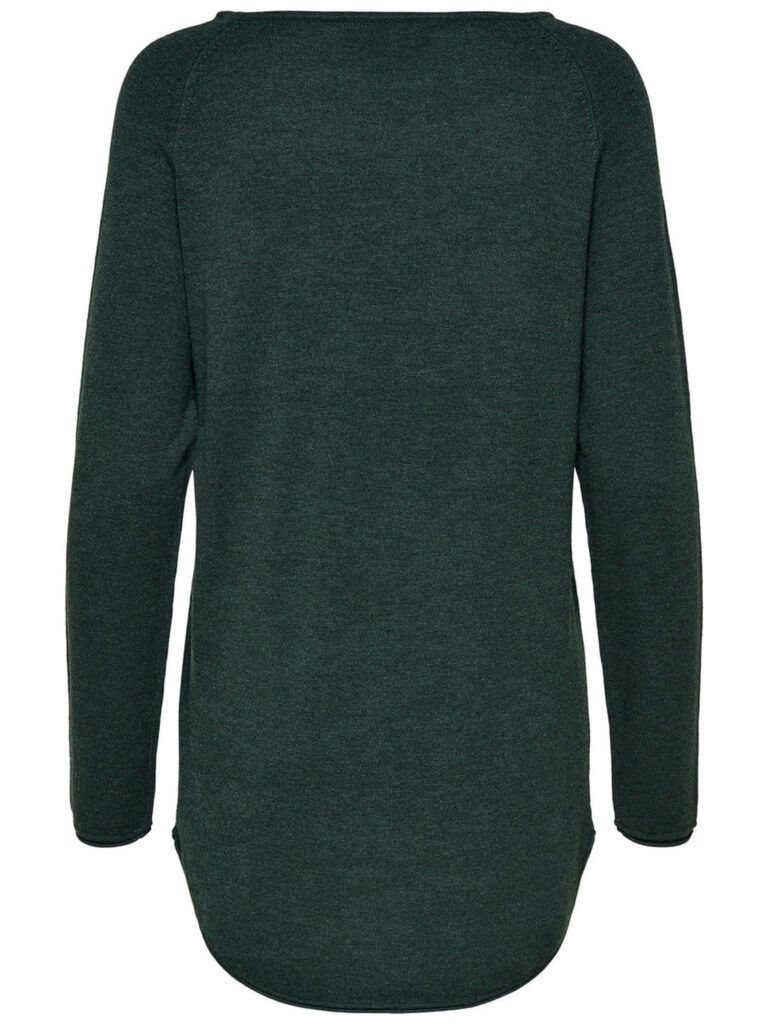 Maglione Only MILA LACY LONG PULLOVER KNT NOOS Verde Scuro - Foto 2